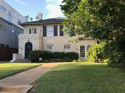 Dallas Multi Family Home For Sale: 4220 N Hall Street