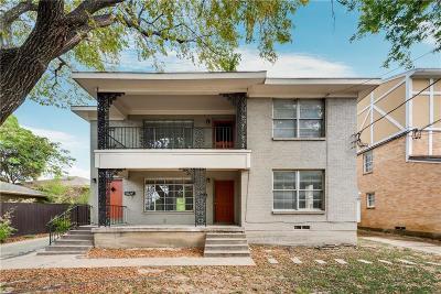 Dallas County Multi Family Home For Sale: 3624 N Fitzhugh Avenue