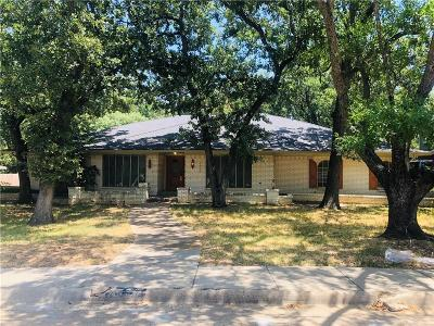 Irving Single Family Home Active Option Contract: 1600 Cripple Creek Drive
