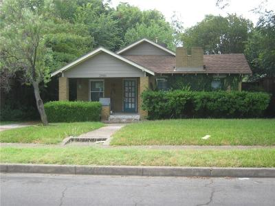 Dallas Single Family Home Active Option Contract: 2446 Emmett Street