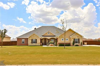 Abilene Single Family Home Active Kick Out: 266 Rising Star Drive