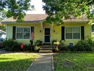 Wills Point Single Family Home Active Option Contract: 422 W High Street