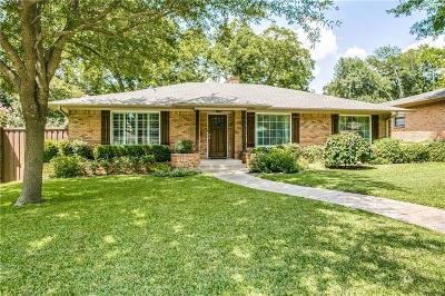 Lake Highlands Single Family Home Active Contingent: 10011 Linkwood Drive
