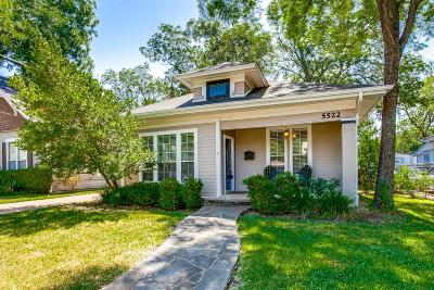 Single Family Home For Sale: 5522 Worth Street