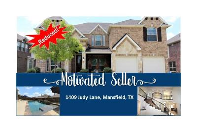 Mansfield Single Family Home For Sale: 1409 Judy Lane
