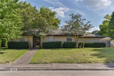 Waxahachie Single Family Home Active Option Contract: 204 Iroquois Lane