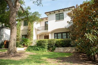 Dallas Single Family Home For Sale: 3400 Harvard