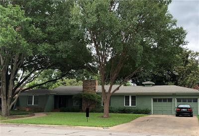 Fort Worth Single Family Home For Sale: 3833 South Drive