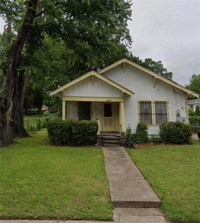 Dallas Single Family Home For Sale: 3243 Pine Street