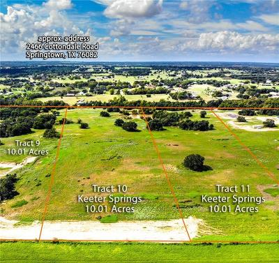 Springtown Residential Lots & Land Active Option Contract: Tbd-11 Keeter Springs Road