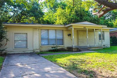 Grand Prairie Single Family Home For Sale: 814 N Carrier Parkway
