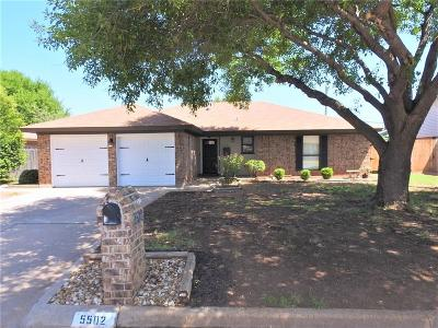 Abilene Single Family Home Active Option Contract: 5502 Castle Road