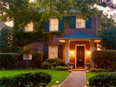 Dallas Single Family Home Active Option Contract: 6311 Bryan Parkway