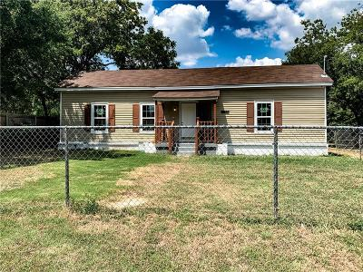 Fort Worth Single Family Home Active Option Contract: 7453 Kell Drive