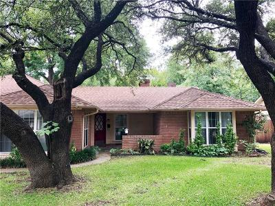 Fort Worth Single Family Home For Sale: 2929 Hartwood Drive