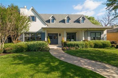 Dallas Single Family Home For Sale: 7525 Villanova Street