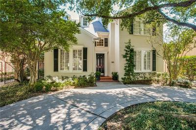 University Park Single Family Home Active Option Contract: 3649 McFarlin Boulevard