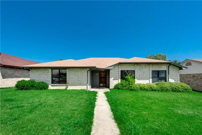 Mesquite Single Family Home Active Option Contract: 1327 Reesling Drive