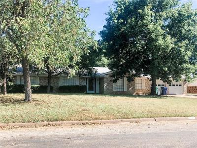 Young County Single Family Home Active Option Contract: 1410 Brazos Street