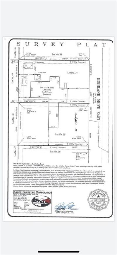 Keller Residential Lots & Land For Sale: 1851 Highland Drive E