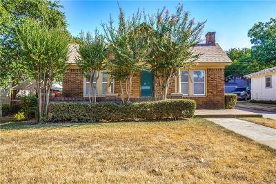 Dallas County, Denton County, Collin County, Cooke County, Grayson County, Jack County, Johnson County, Palo Pinto County, Parker County, Tarrant County, Wise County Single Family Home For Sale: 2209 W Rosedale Street S