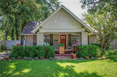 Fort Worth Single Family Home Active Option Contract: 2504 Goldenrod Avenue