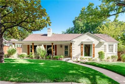 Fort Worth Single Family Home Active Option Contract: 4310 Birchman Avenue