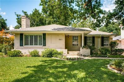 Dallas Single Family Home For Sale: 6411 Glennox Lane