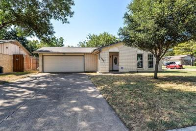 Irving Single Family Home Active Option Contract: 1928 Pebblebrook Trail