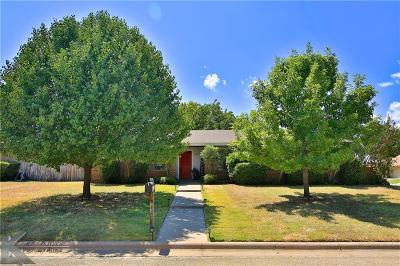 Abilene Single Family Home Active Option Contract: 5202 Meadowick Lane