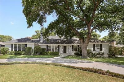Dallas Single Family Home For Sale: 7631 Northaven Road