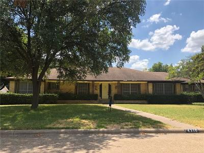 Single Family Home For Sale: 4310 Northview Lane