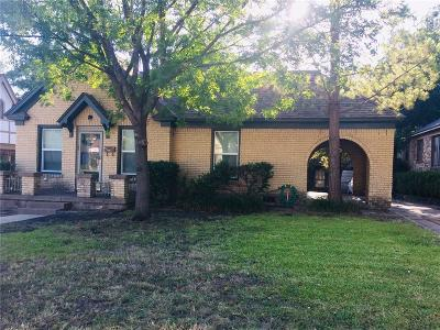 Fort Worth Single Family Home For Sale: 2529 S University Drive
