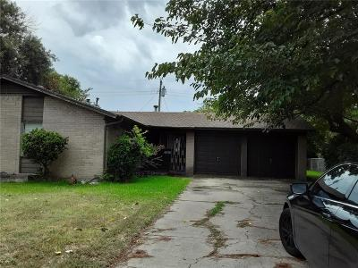 Irving Single Family Home Active Option Contract: 2536 Rutherford Street