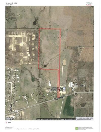 Denton County Residential Lots & Land For Sale: 43 Ac Fm 455 W
