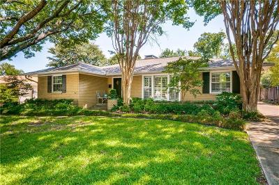 Dallas, Fort Worth Single Family Home For Sale: 6216 Woodcrest Lane