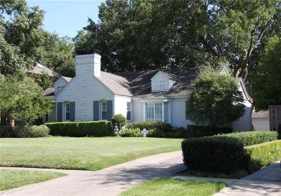 Highland Park, University Park Single Family Home For Sale: 3637 Greenbrier Drive
