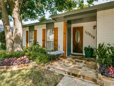 Dallas Single Family Home For Sale: 10819 Wallbrook Drive