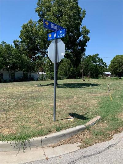 Fort Worth Residential Lots & Land For Sale: 2921 Avenue A