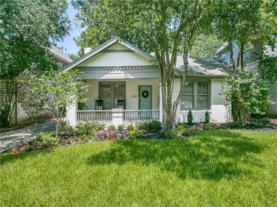 Dallas Single Family Home For Sale: 6117 Belmont Avenue
