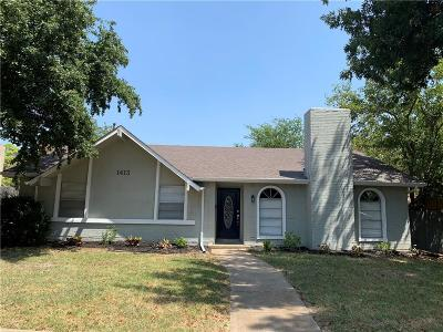 Lewisville Single Family Home For Sale: 1413 Cherry Hill Lane