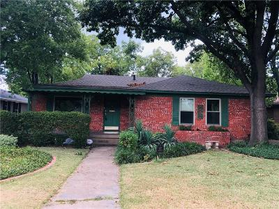 Dallas Single Family Home For Sale: 6907 Mockingbird Lane