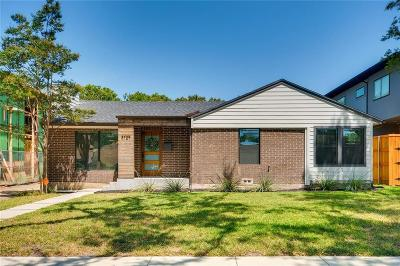 Dallas Single Family Home For Sale: 3729 Rockdale Drive