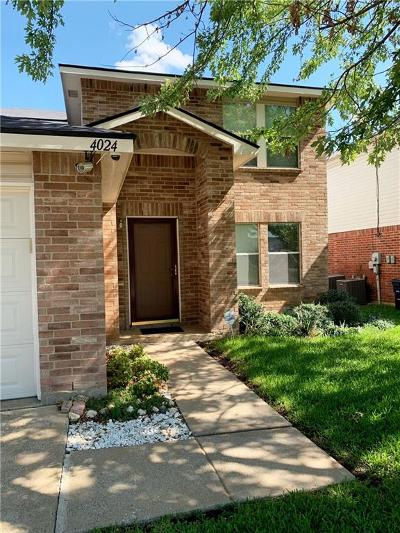 Fort Worth Single Family Home Active Option Contract: 4024 Fox Trot Drive