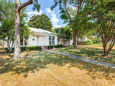 Dallas County Single Family Home Active Option Contract: 5003 Elsby Avenue
