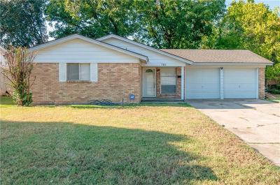Euless Single Family Home Active Option Contract: 703 Whitener Road