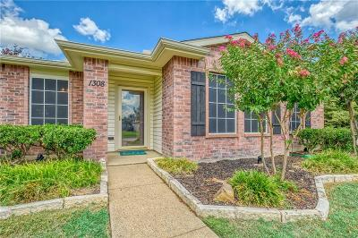 Wylie Single Family Home Active Option Contract: 1308 Windward Lane