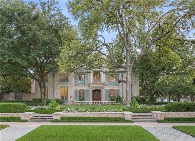 Highland Park TX Single Family Home For Sale: $8,695,000