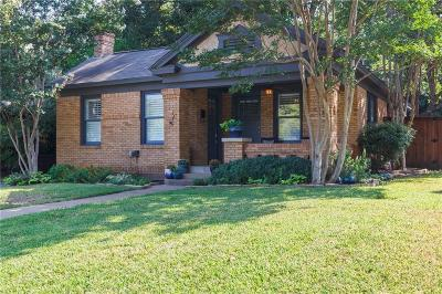 Dallas Single Family Home For Sale: 1322 Hollywood Avenue