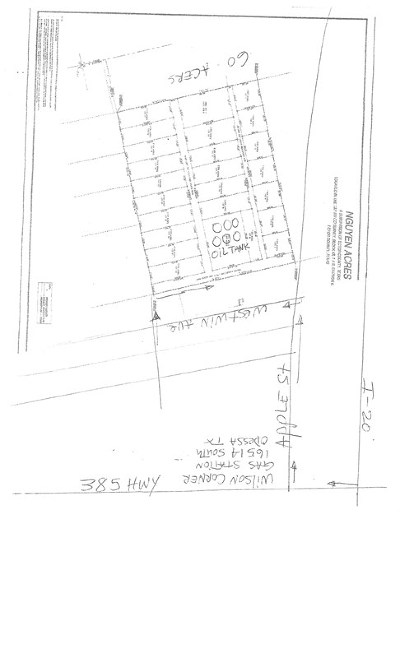 Odessa Residential Lots & Land For Sale: Tbd